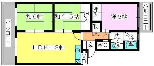 エステート篠栗 / 403号室間取り