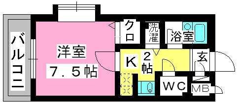 プレデュパルク壱番館 / 201号室間取り