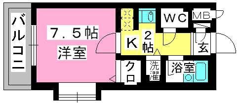プレデュパルク壱番館 / 203号室間取り