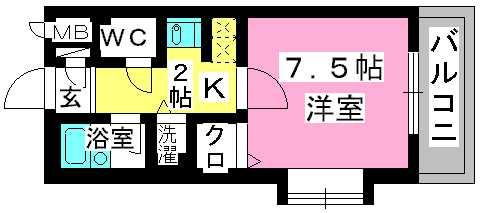 プレデュパルク壱番館 / 507号室間取り