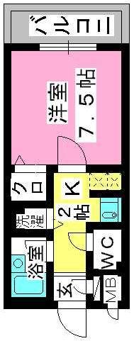 プレデュパルク壱番館 / 605号室間取り