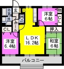 リヴェール伊賀Ⅱ / 103号室間取り