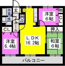 リヴェール伊賀Ⅱ / 403号室間取り