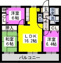 リヴェール伊賀Ⅱ / 502号室間取り