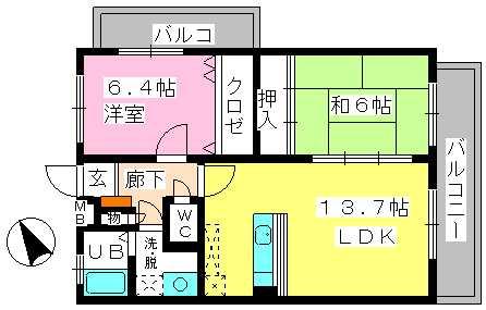 ルミエール・アーサ / 201号室間取り
