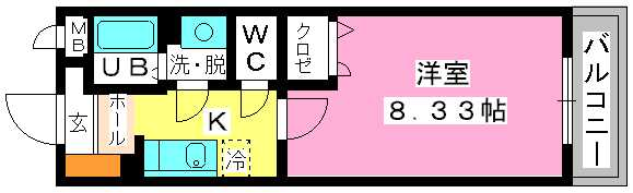 クリア吉塚 / 102号室間取り