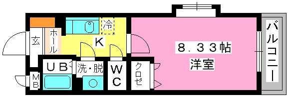クリア吉塚 / 201号室間取り