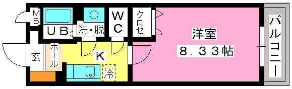 クリア吉塚 / 402号室間取り