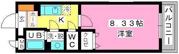 クリア吉塚 / 403号室間取り