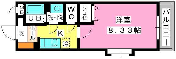 クリア吉塚 / 405号室間取り