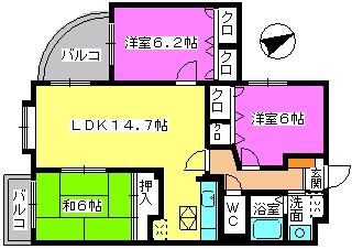 カンフォーロ藤木 / 102号室間取り
