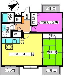 カンフォーロ藤木 / 105号室間取り