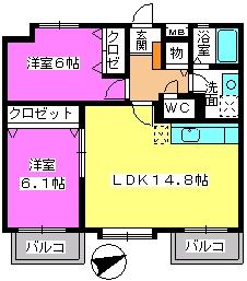 カンフォーロ藤木 / 303号室間取り