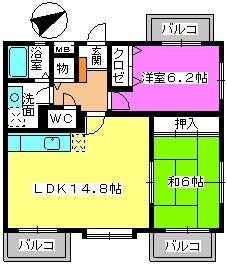 カンフォーロ藤木 / 505号室間取り