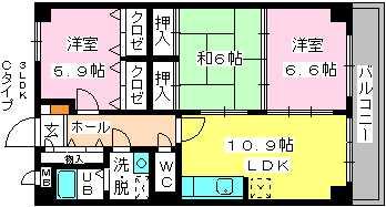メゾン・ド・ソレイユ / 602号室間取り
