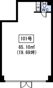 メゾン・ド・ソレイユ / 101号室間取り