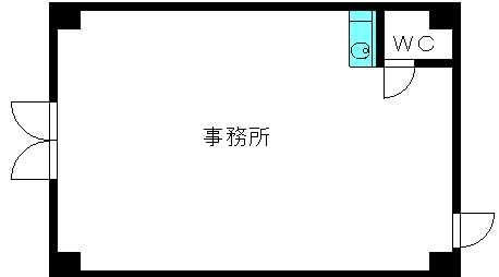 グリシーヌ空港 / 102号室間取り