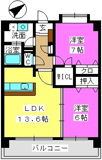シャルム空港南 / 503号室間取り