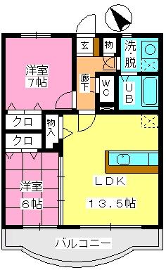 ルミエール21 / 303号室間取り