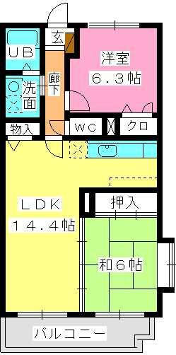 シングレート・ヒルズ / 201号室間取り