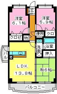 チュリス空港東 / 201号室間取り