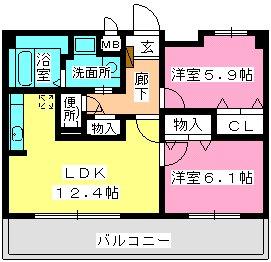 ネオパレス長者原Ⅱ / 303号室間取り