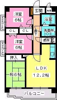 シャトレ東 / 402号室間取り