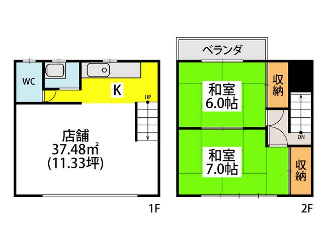 篠栗梶原店舗 / 105号室間取り