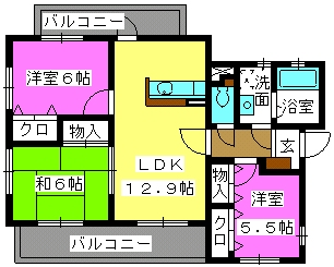 リヴェール花水木 / 203号室間取り