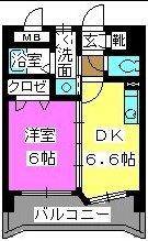 メルベーユ博多 / 202号室間取り