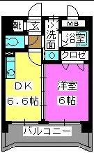 メルベーユ博多 / 303号室間取り