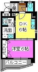 メルベーユ博多 / 605号室間取り