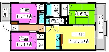 パークコート博多の森 / 1-203号室間取り