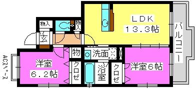 パークコート博多の森 / 2-201号室間取り
