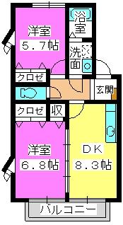 ベルデュ-ルⅡ / 102号室間取り