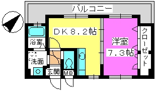 ザ・グレンリベット(ペット可) / 302号室間取り