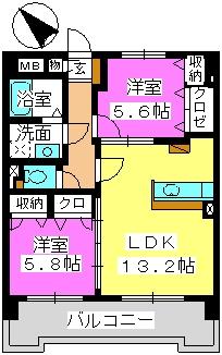 サン・ビオ空港通り(ペット可) / 903号室間取り