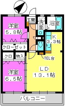 プロムナード・セリーヌ参番館 / 203号室間取り