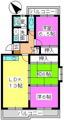 プレジオ篠栗 / 201号室間取り