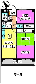 プレジオ篠栗Ⅱ(ペット可) / 101号室間取り