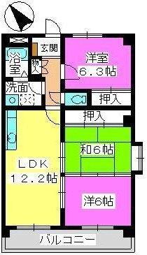プレジオ篠栗Ⅱ / 201号室間取り
