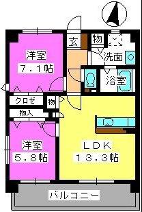 プレザントフレンド / 402号室間取り