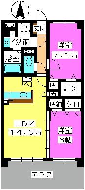 メゾン プルミエ / 102号室間取り