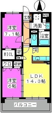 メゾン プルミエ / 402号室間取り