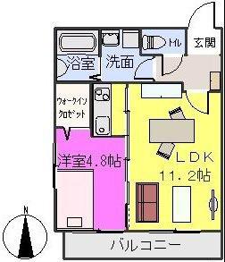 ネオハイツⅡ / 201号室間取り