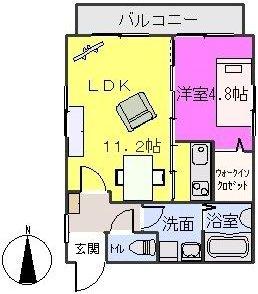 ネオハイツⅡ / 303号室間取り