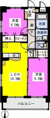 モンテ アンビシオン / 102号室間取り