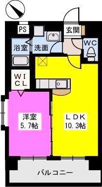 B・Jハウス博多 / 801号室間取り