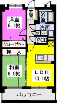 スルス門松 / 206号室間取り