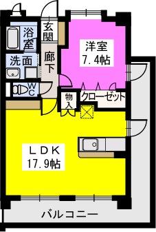 スルス門松 / 407号室間取り